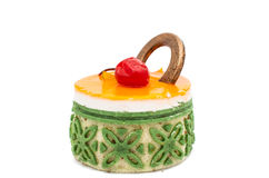 isolerad cake Arkivfoto