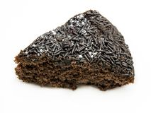 isolerad cakechoklad royaltyfri bild