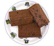 isolerad cakechoklad Arkivfoton