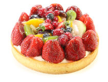 isolerad cakefrukt Royaltyfri Fotografi