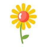 isolerad chamomile Blomma på vitbakgrund stock illustrationer
