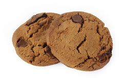 isolerad chipchokladkaka Arkivbilder