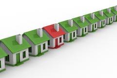 isolerad choice bild för hus 3d Arkivbild