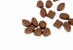 Isolerad choklad Royaltyfria Bilder