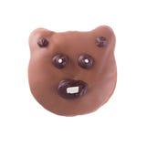 Isolerad chokladbjörnmunk Royaltyfri Fotografi