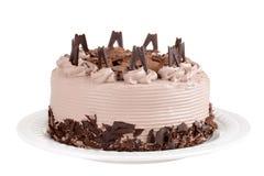 Isolerad chokladcake med flakes royaltyfria foton