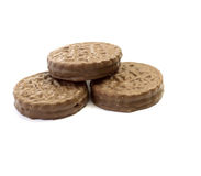 Isolerad chokladkaka Arkivbilder