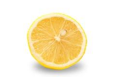 Isolerad citron Fotografering för Bildbyråer
