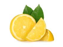 isolerad citron Royaltyfri Bild