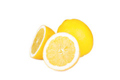 isolerad citron Royaltyfria Bilder