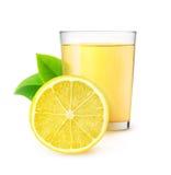 Isolerad citronjuice Royaltyfria Bilder