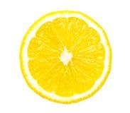 isolerad citronskiva Royaltyfria Bilder