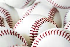 Isolerad Closeup av baseballsamlingen arkivfoton