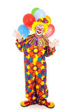 isolerad clown Arkivfoton