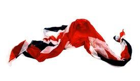 Isolerad Colorfull scarf Fotografering för Bildbyråer