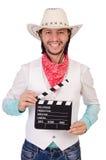 Isolerad cowboy Royaltyfri Foto