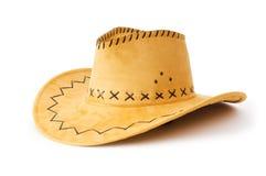 isolerad cowboyhatt Royaltyfri Foto