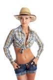 isolerad cowgirl royaltyfri bild