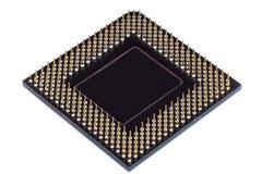 Isolerad CPU-centralenhetmikrochips Fotografering för Bildbyråer
