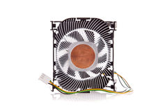 Isolerad CPU-Cooler Royaltyfri Fotografi