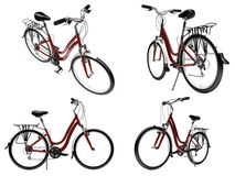 isolerad cykelcollage Royaltyfria Foton