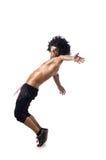 Isolerad dansare Arkivbilder