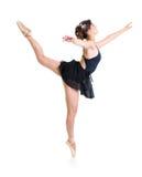 isolerad dansareflicka Arkivbilder