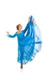 isolerad dansareflicka Fotografering för Bildbyråer