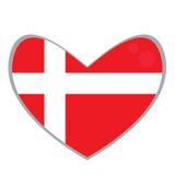 isolerad dansk flagga Royaltyfria Bilder