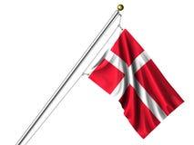 isolerad dansk flagga
