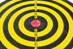 isolerad dartboard royaltyfri bild