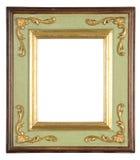 isolerad dekorativ ram Arkivbild