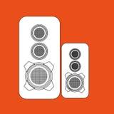 isolerad design för högtalare kolonner vektor illustrationer