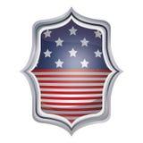 Isolerad design för ram för USA-flaggainsida Royaltyfria Bilder
