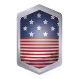 Isolerad design för ram för USA-flaggainsida Royaltyfri Fotografi