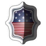 Isolerad design för ram för USA-flaggainsida Arkivfoton