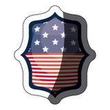 Isolerad design för ram för USA-flaggainsida Arkivfoto