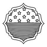 Isolerad design för ram för USA-flaggainsida Royaltyfri Bild