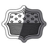 Isolerad design för ram för USA-flaggainsida Arkivbild