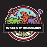 Isolerad dinosauriesymbol tecknad filmteckendesign royaltyfri illustrationer