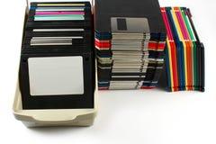 isolerad diskettfloppy Royaltyfri Fotografi