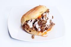 Isolerad Doner kebab Arkivfoto