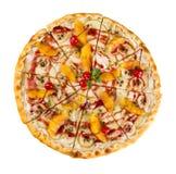 Isolerad efterrättmat den söta pizza Royaltyfria Foton