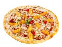 Isolerad efterrättmat den söta pizza Arkivfoton