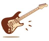 isolerad elektrisk gitarr Arkivfoto