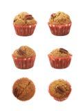 Isolerad enkel muffin för pecannötmutter Arkivbilder