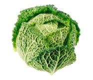 isolerad enkel white för kålfrukt green arkivfoton