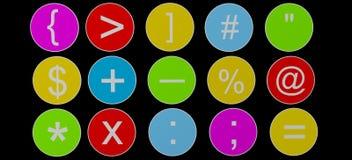 isolerad färg plates runt Fotografering för Bildbyråer