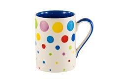 isolerad färgrik kopp Royaltyfri Bild