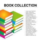 Isolerad färgrik logo för vektor för boksamling Skolalogotyp Royaltyfri Foto
